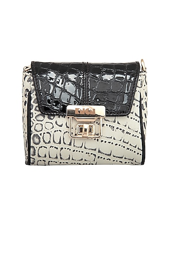Black & White Mini Crossbody Bag by KNGN