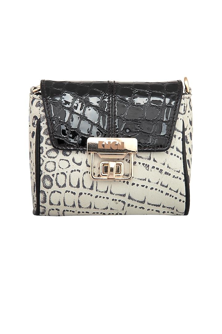 Black & White Mini Crossbody Bag by KNGN