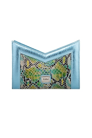 Multi Colored Handcrafted Clutch by KNGN