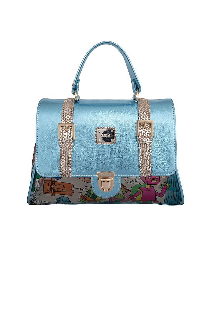Blue Handcrafted Crossbody Bag by KNGN