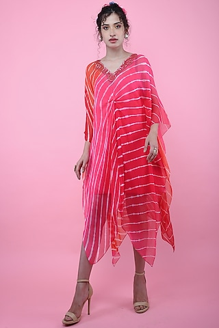 Orange & Pink Tunic With Inner by K-ANSHIKA Jaipur