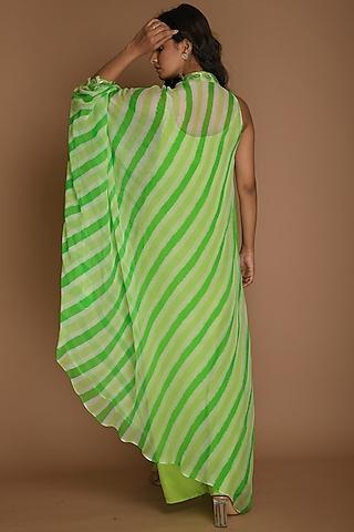 Lime Green & Green Kaftan Tunic With Inner by K-ANSHIKA Jaipur