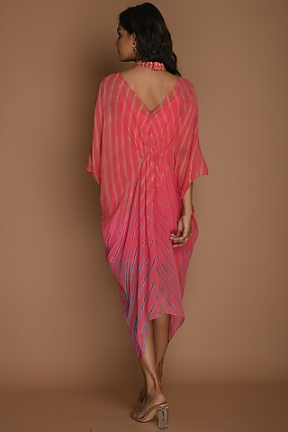 Pink Embellished Kaftan With Inner by K-ANSHIKA Jaipur