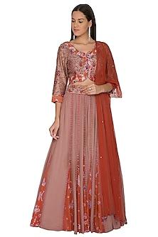 Red Embroidered Lehenga Set by K-ANSHIKA Jaipur