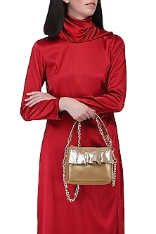Gold stella bag by KNGN