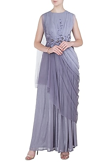 Lilac Embellished Cowl Gown by K-ANSHIKA Jaipur