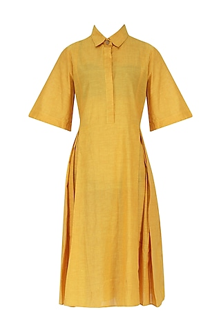 Yellow Collared Dress by Knotty Tales