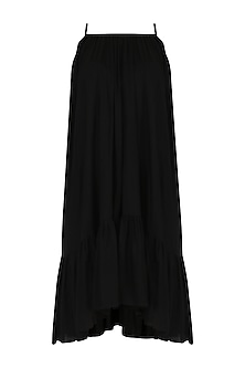 Black Ruffled Hem Dress by Knotty Tales