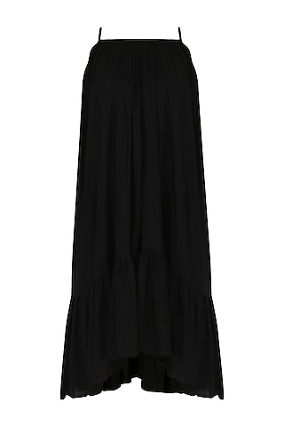 Black Ruffled Hem Dress by Knotty Tales
