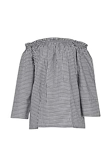 Black and White Checkered Top by Knotty Tales