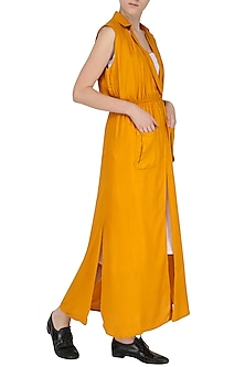 Yellow Collared Maxi Dress by Knotty Tales