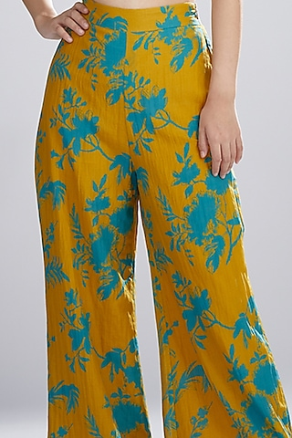 Mustard & Blue Printed Pants by Koai