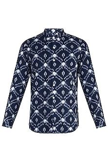 Indigo ikat shirt by KOS