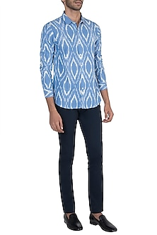 Light blue ikat shirt by KOS