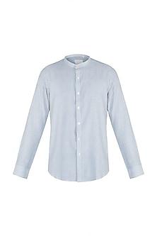 Natural khadi striped shirt by KOS