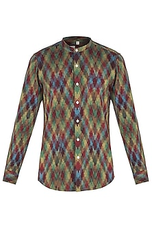 Multi coloured ikat shirt by KOS