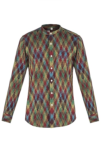 Multi coloured ikat shirt by KOS