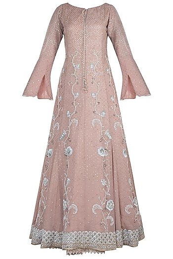 Vintage rose embroidered choga gown by House of Kotwara
