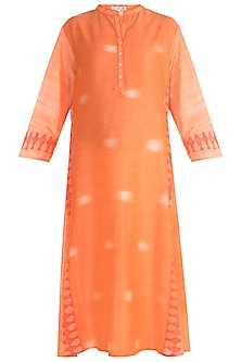 Orange Printed Tunic by Krishna Mehta