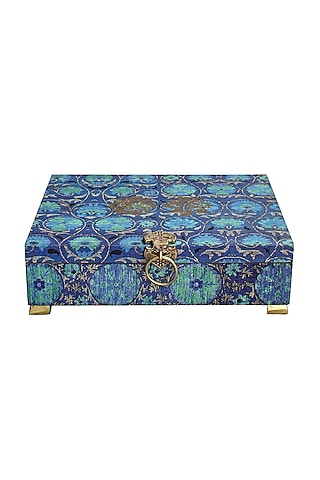 Blue Handcrafted Vamika Utility Box by Karo