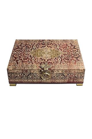 Brown Handcrafted Parijat Utility box by Karo