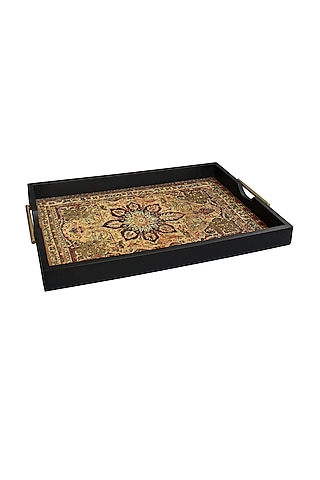 Brown Handcrafted Pamira Tray by Karo