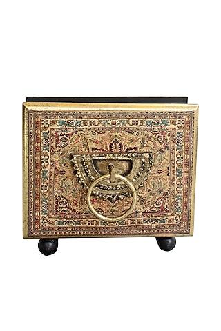 Brown Handcrafted Pamir Tissue Box by Karo