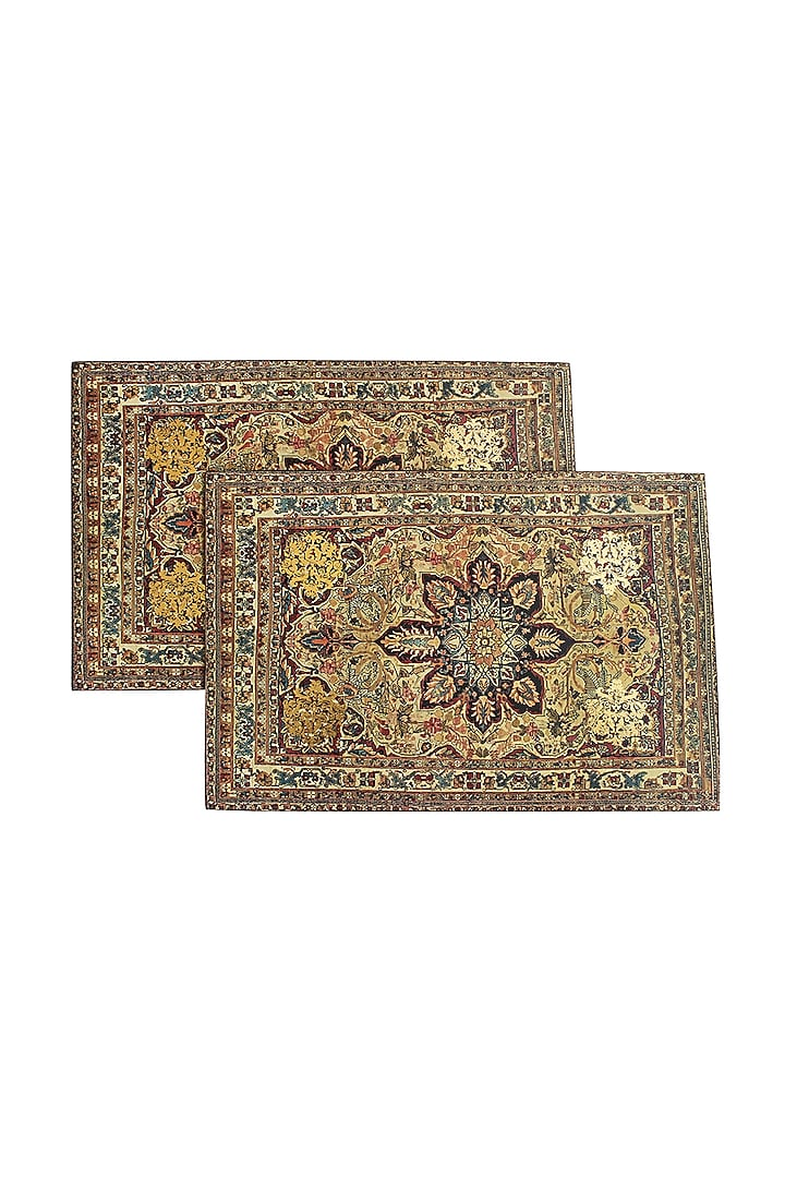 Brown Handcrafted Table Placement Mats (Set of 6) by Karo