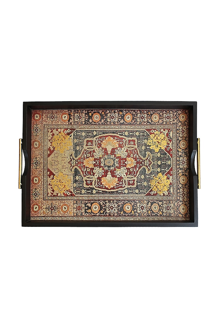 Brown Handcrafted Persia Tray by Karo
