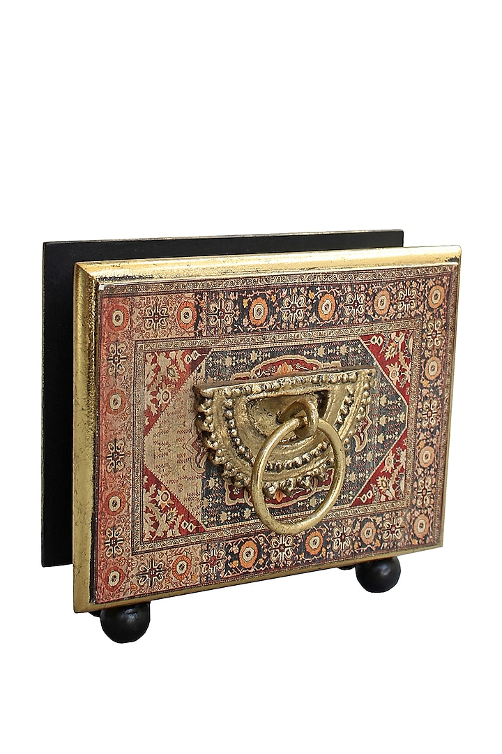 Brown Handcrafted Persia Tissue Box by Karo