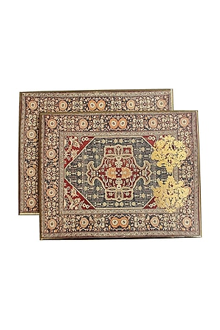 Brown Handcrafted Persia Trivets (set of 2) by Karo