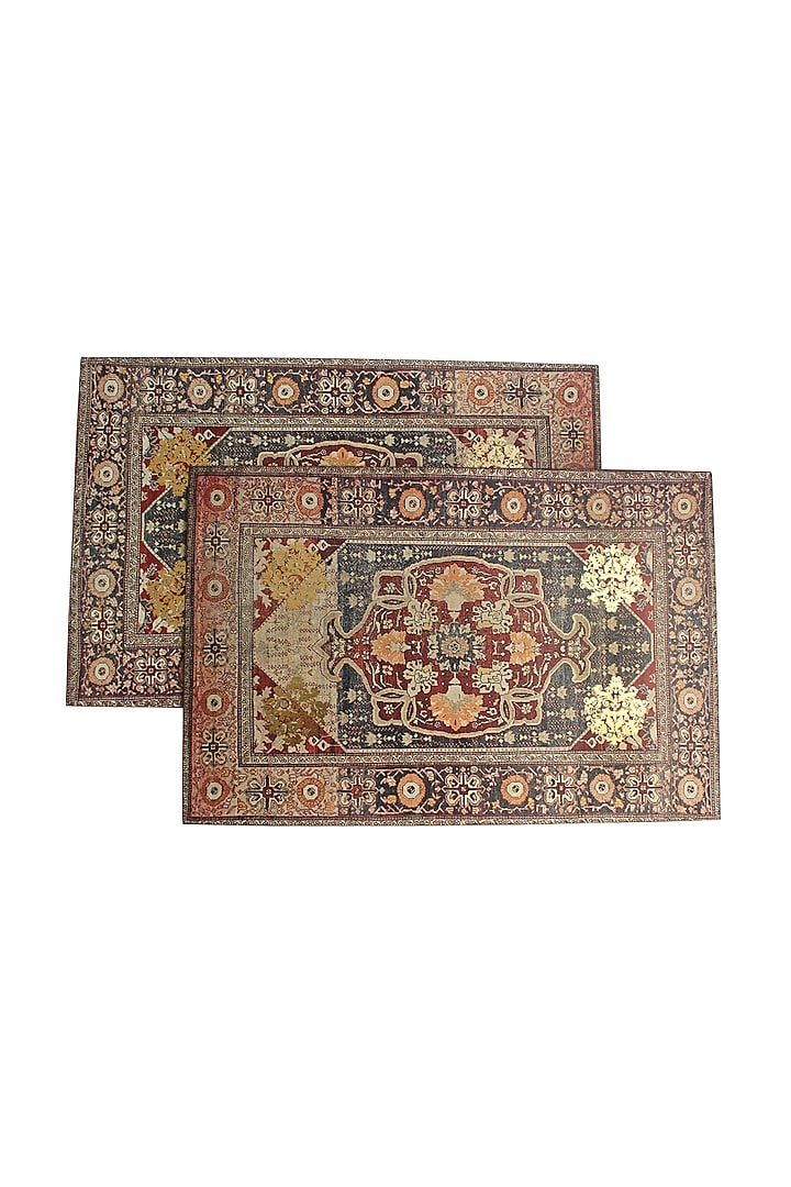 Brown Handcrafted Persia Table Placement Mats (Set of 6) by Karo