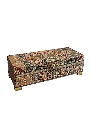 Brown Handcrafted Persia Utility Box by Karo
