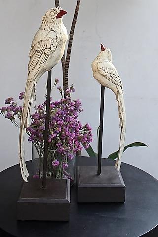 White Handcrafted Bird Sculpture Showpieces by Karo