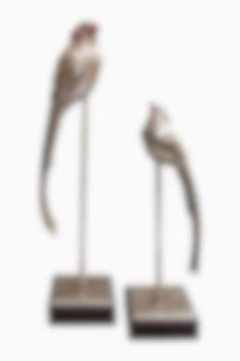 Silver Handcrafted Bird Sculpture Showpieces by Karo