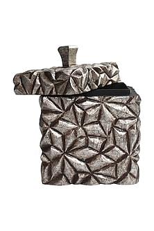 Silver Mahira Wooden Utility Box (S) by Karo