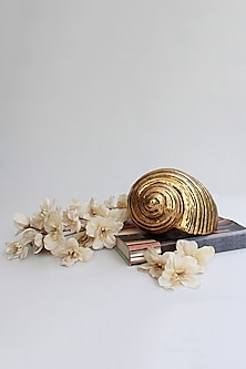 Golden Totem Snail & Shell Showpiece by Karo