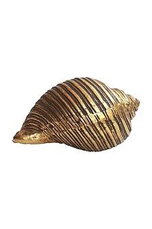 Golden Totem Snail & Shell Showpiece by Karo