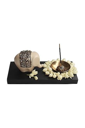 Ivory Haathi Incense Holder by Karo