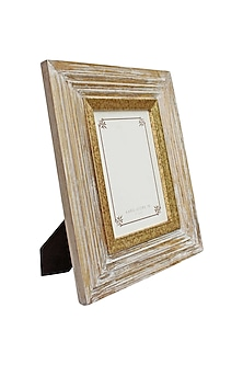 Golden Kara Photo Frame In Wood by Karo