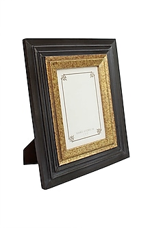 Brown Kara Photo Frame In Wood by Karo