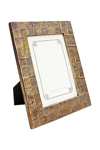 Golden Textured Photo Frame by Karo
