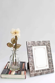 Silver Textured Photo Frame by Karo