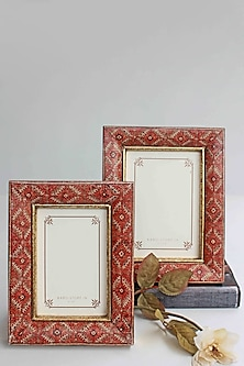Multicolored Wooden Carissa Photo Frame by Karo