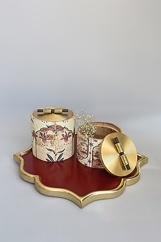 Multi Colored Decorative Jars (Set of 2) by Karo