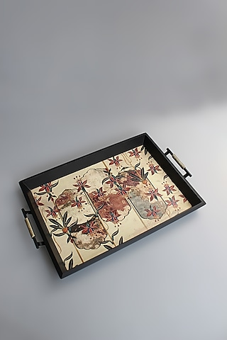 Multi Colored Wooden Tray by Karo
