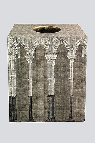 Silver Wood Tissue Box by Karo