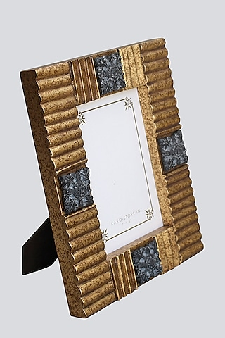 Gold Wood & Resin Photo Frame by Karo