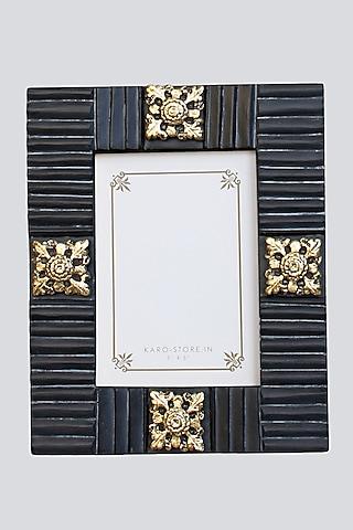 Black Wood & Resin Photo Frame by Karo