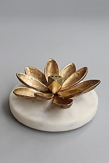 Gold Handcrafted Incense Holder by Karo